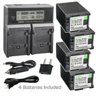 Kastar Battery LCD Dual Fast Charger for Canon BP-820 BP-828 & Canon VIXIA XA55