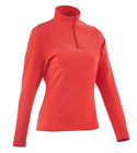 Women Fleece for hiking, snowboard, ski 1/2 Zip Orange High Quality Vibrant Col