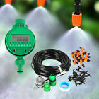 Automatic Spray&Drip Irrigation System Kit Plant Timer Self Watering Garden Hose