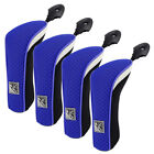 FixedPrice4pcs neoprene hybrid head cover golf club rescue cover with adjustable #