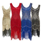 Women's 1920s Gatsby Vintage Sequin Full Fringed Deco Inspired Flapper Dresses