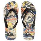 Quiksilver NEW Molokai Feelin Fine Flip Flops - Black / Black / Yellow BNWT