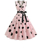 Women Vintage 50S 60S Swing Dress Party Cocktail Pinup Midi Dress Prom Ball Gown