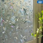 3D Static Cling Frosted Flower Glass Door Window Film Sticker Privacy Home US