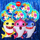 Baby Shark Party Supplies Balloon Banner Decoration Cupcake Topper Bracelet Cake