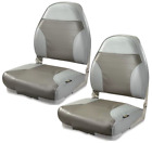 BOAT SEAT SET 2 Folding High Back UV Treated Multipe Colors Marine Vinyl Seats