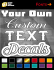 """Custom Lettering Vinyl Decal Sticker Window Decal For Car Truck Toolbox 1-8"""""""