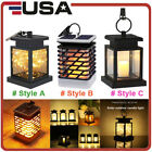 Waterproof Outdoor LED Solar Lantern Hanging Light Flickering Flame Candle Light