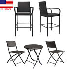 Wicker Rattan Garden Furniture Set  2pc Chair+1pc Coffee Table Outdoor Patio Us