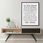 FAMILY FRIENDLY Version Of The Office Quotes TV Poster In This House Decor for sale  Shipping to South Africa