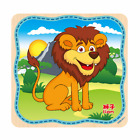 A Set Wooden Puzzle Educational Developmental Baby Kids Training Toys US