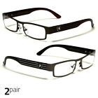 Small Women Clear Lens Square Rx Sunglasses Bl Silver Eyeglasses Brown Gunmetal