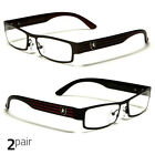 Small Women Clear Lens Square Rx Sunglasses Black Silver Eyeglasses Brown Red
