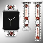 Cincinnati Bengals Apple Watch Band 38 40 42 44 mm Fabric Leather Strap 1 on eBay