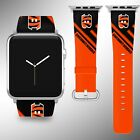 Cincinnati Bengals Apple Watch Band 38 40 42 44 mm Fabric Leather Strap 2 on eBay