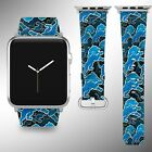 Detroit Lions Apple Watch Band 38 40 42 44 mm Fabric Leather Strap 1 on eBay