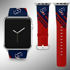 Houston Texans Apple Watch Band 38 40 42 44 mm Fabric Leather Strap 2 r $29.97 USD on eBay