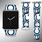 Indianapolis Colts Apple Watch Band 38 40 42 44 mm Fabric Leather Strap 1 on eBay