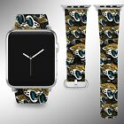 Jacksonville Jaguars Apple Watch Band 38 40 42 44 mm Fabric Leather Strap 1 $29.97 USD on eBay