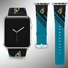 Jacksonville Jaguars Apple Watch Band 38 40 42 44 mm Fabric Leather Strap 2 $29.97 USD on eBay