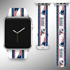 New England Patriots Apple Watch Band 38 40 42 44 mm Fabric Leather Strap 1 $29.97 USD on eBay