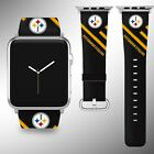 Pittsburgh Steelers Apple Watch Band 38 40 42 44 mm Fabric Leather Strap 1 on eBay