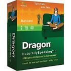 New Sealed Nuance Dragon Naturally Speaking Standard Edition 10 Mic Included