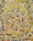 Jackson Pollock Shimmering Substance Print Canvas Large Wall Picture 22x28""