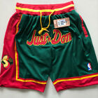 Men's Seattle SuperSonics shorts big logo  Basketball Retro Mesh pants Green on eBay
