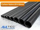 Carbon Rohr Ø 8-30mm / CFK Tube 3K Köper matt 1000mm / Hobbyline