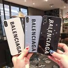 Luxury Fashion Balenciaga Tempered Glass Phone case for iphone XS XR X 8 7 Plus