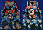 New Men's Miami Heat #3 Dwyane Wade Basketball flowers jersey Mesh Black on eBay