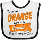 Inktastic I Wear Orange For My Cousin-Support, Hope, Cure Baby Bib Awareness