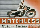 Vintage Matchless Motorcycle 1939 Poster