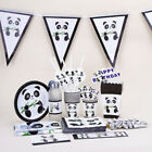 Decor Baby Shower Happy Birthday Popcorn Box Tablecloth Banners Panda Theme