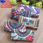 PU Leather Wallets For Women Floral Accordion Ladies Wallet RFID Blocking US image