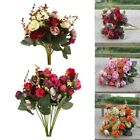 Artificial Rose Bouquet Silk Fake Flowers Wedding Party Home Decoration Us Stock