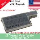 Laptop Battery For Dell Latitude D531 D531N D820 D830 TC030 CF623 DF192 XD73 PSU