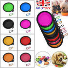 UK Collapsible Foldable Pet Dog Bowl Food Water Bowls Dish Toy Flyer Frisbee