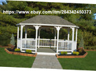 Vinyl Oval Gazebo 12 ft x 18 ft Large Covered Floor Included Hot Tub Shingled