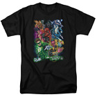 Green Lantern Blackest Group Short Sleeve T-Shirt Licensed Graphic SM-7X