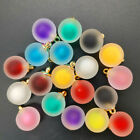 NEW DIY 8PCS 16MM Acrylic Bottles Frosted Beads Charm Pendant Ornaments Jewelry