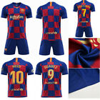 19/20 Messi Football Youth Jersey Strips Soccer Training Sports Kit Kid Boy Suit