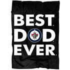 Best Dad Ever Winnipeg Jets America Sport Blanket, Grandpas Blanket, Fathers Day $39.99 USD on eBay