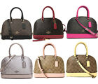 Coach F27583 Mini Sierra Signature Satchel Khaki Brown Pink