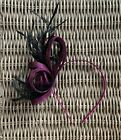 FASCINATOR. WEDDINGS. ASCOT. RACES. PEACH. PURPLE Code 37