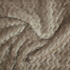Wave - Luxury Double Sided Chevron Fur Fleece Cuddle Supersoft Fabric
