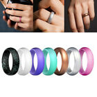 7 Pack Silicone Wedding Ring Women Rubber Band Flexible Comfortable Lifestyle