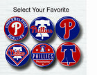 "Philadelphia Phillies Buttons 1.25"" MLB Team Hat T-Shirt Jersey Pins Badge Patch on Ebay"