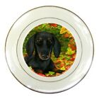 Collectible Porcelain Plate 8 inches Dog 90,142 Dachshund art painting L.Dumas